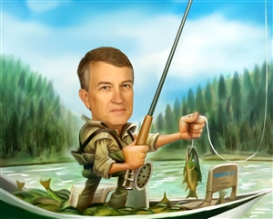 Go Fishing Caricature from Photo