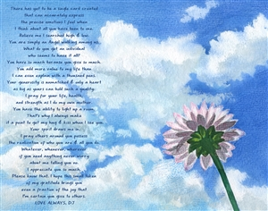 Touch the Sky - Watercolor Print with Custom Text