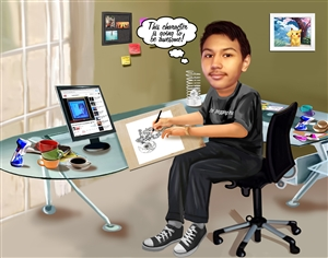 Blogger Caricature from Photo