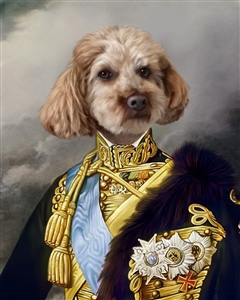 Custom Renaissance Pet Portrait Masterpiece from Photo
