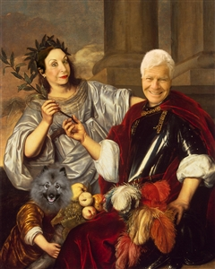 Personalized Renaissance Masterpiece Allegorical Family Portrait from Photos