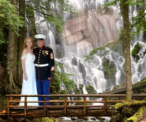 Waterfall Romance Fantasy from Photos