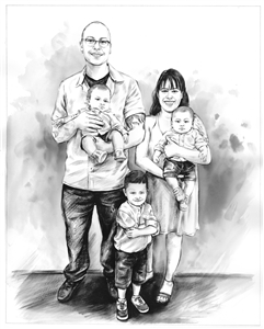 Hand Painted Ink Rendering from Photos