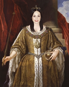 Custom Royal Portrait and Renaissance Masterpiece Queen Anne from Photo