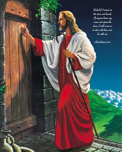Jesus Knocking at the Door Oil Painting Giclee with Custom Saying