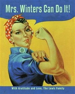 Rosie the Riveter Custom Print with Text