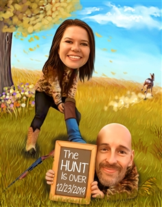 The Hunt Is Over Caricature from Photos