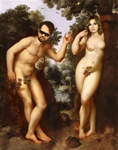 Personalized Masterpiece Adam and Eve Photos