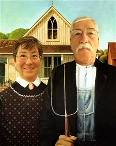 Personalized Masterpiece American Gothic from Photos