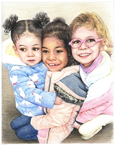 Color Pencil Sketch from Photo | Custom Color Pencil Portrait