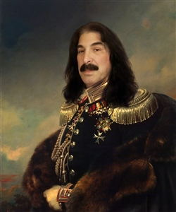 Custom Masterpiece and Royal Portrait of Prince Andrei Obolensky from Photo