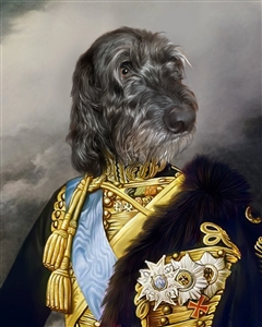 Custom Renaissance Pet Portrait | Royal Dog Portrait as A King | from Photo