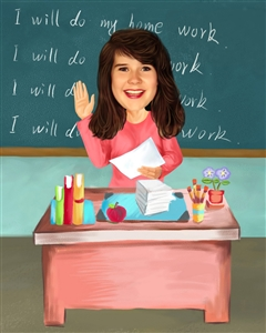Female Teacher Caricature from Photo