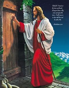 Custom Poster Jesus Knocking at the Door with Your Text
