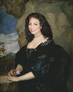 Personalized Renaissance Portrait Countess of Oxford from Photo