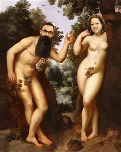 Personalized Renaissance Portrait Adam and Eve from Photos