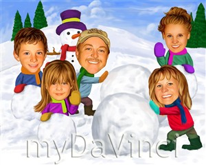 Snowman Caricature from Photos