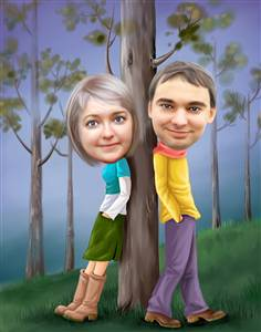 Forest of Love Caricature from Photos