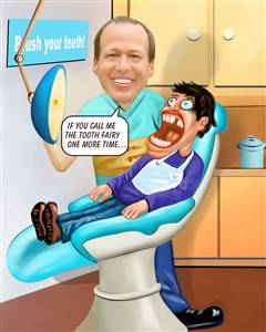 Dentist II Caricature from Photo