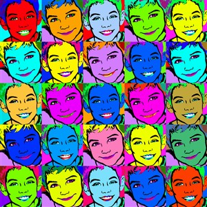 Pop Art 25 Panels from Photos
