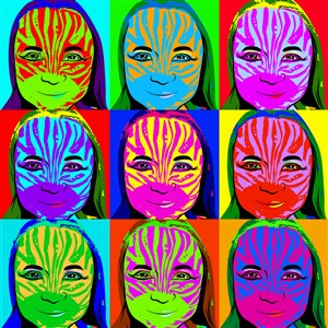 Pop Art 9 Panels from Photos