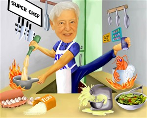Super Chef Caricature from Photo