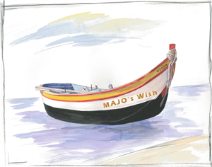Smooth Sailing Dinghy Watercolor