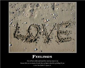 The Feelings - Inspirational Print with Custom Text
