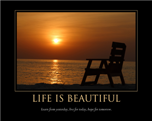 Life is beautiful - Inspirational Print with Custom Text