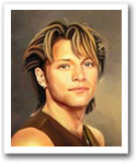 Jon Bon Jovi Oil Painting Limited Editions