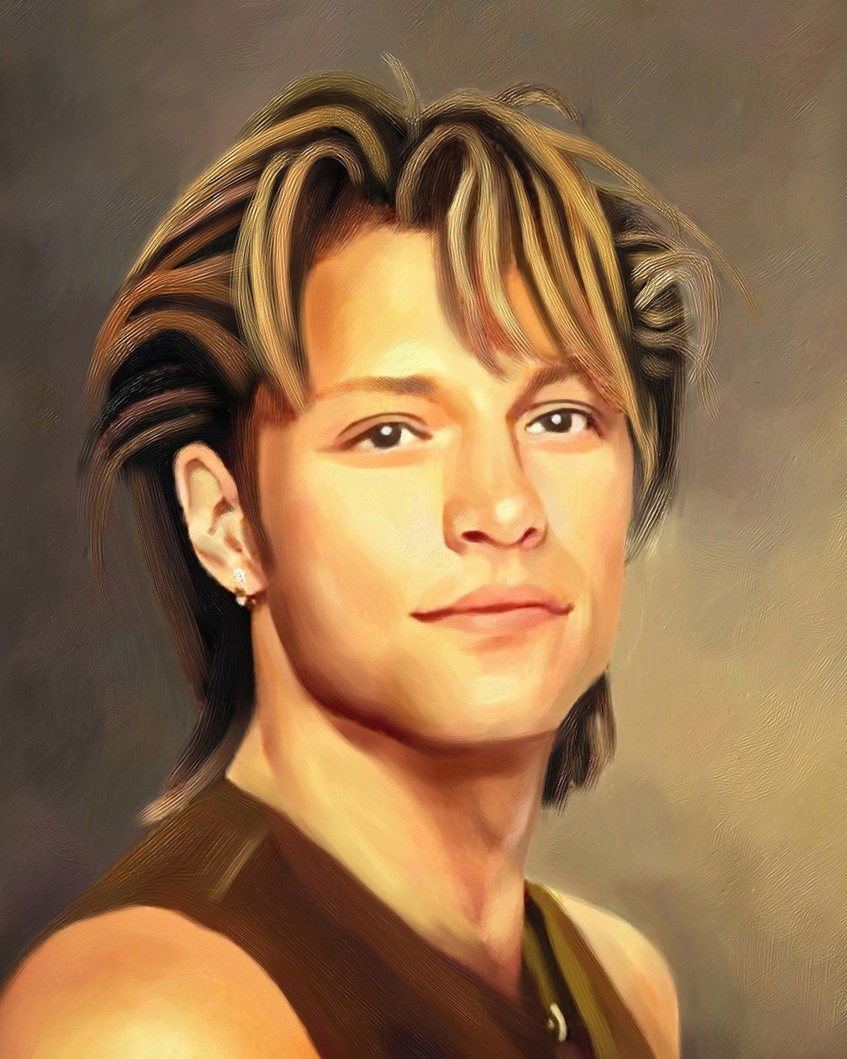 Jon Bon Jovi Oil Painting