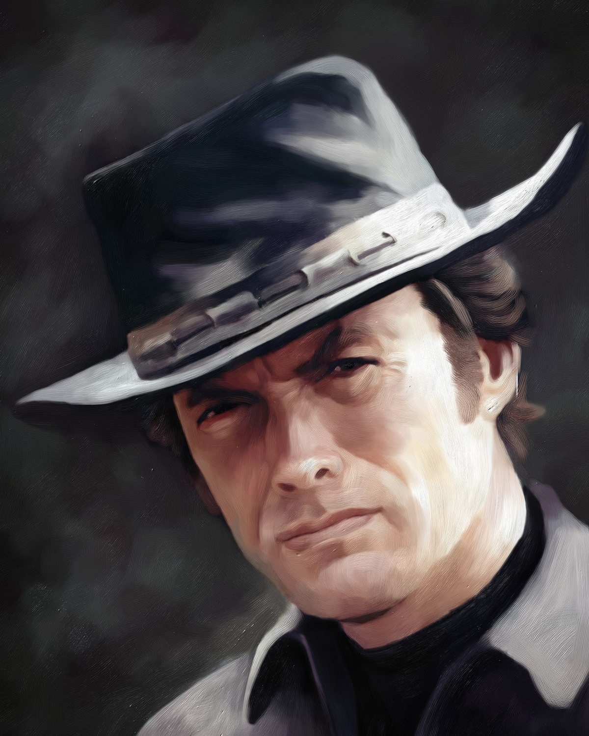 Clint Eastwood Oil Painting