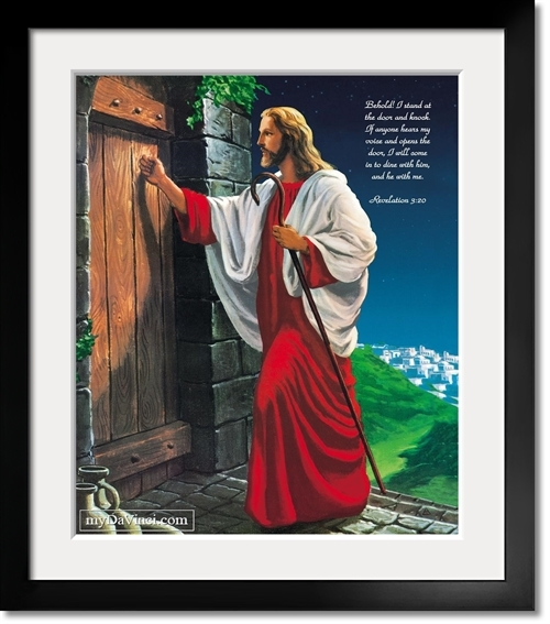 Jesus Knocking at the Door Oil Painting Giclee with Custom