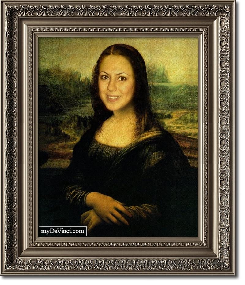 personalized mona lisa masterpiece from photo mydavinci com