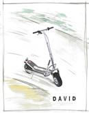 Silver Scooter Watercolor