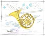 French Horn Watercolor