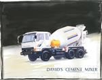 Cement Truck Watercolor
