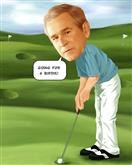 Golfer Caricature from Photo