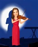 Violinist Caricature from Photos