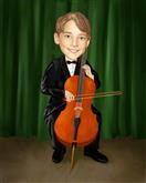 Cellist Caricature from Photos
