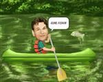Canoeing Caricature from Photos