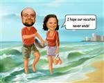 Vacation Days Caricature from Photos
