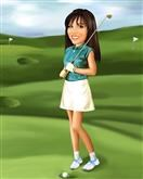 Golfer Girl Caricature from Photo