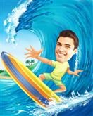 Surfs Up! Caricature from Photos