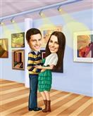 Gallery Goers Caricature from Photos