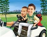 Golf Guys Caricature from photos