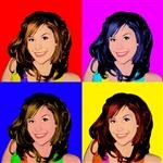 Pop Art 4 Panels from Photos