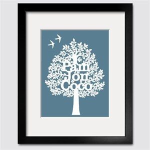 Customized Family Tree – paper cut